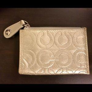 Silver Coach coin purse